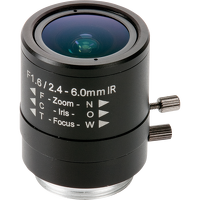 2,4 - 6-mm-Varioobjektiv mit manueller Blende