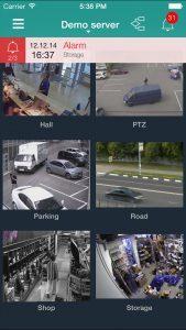 Mobiler Client für Remote-Sicherheitsüberwachung