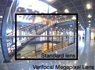 AXIS 223M mit Variofokus im Megapixelbereich Objektiv 2,4-6 mm bei kleinster Brennweite