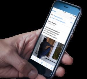 Erhalten Sie Fotos oder 30 Sekunden lange Videoclips per E-Mail